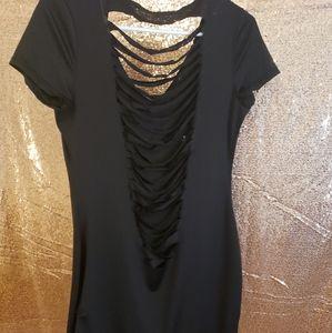 Shredded Back Dress